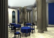 interior do restaurante da rendição 3D Imagens de Stock Royalty Free