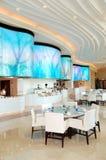 Interior do restaurante do hotel de luxo Imagens de Stock Royalty Free