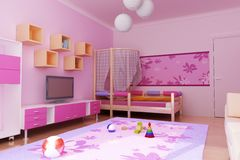 Interior do roo das crianças Fotos de Stock Royalty Free