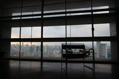 Interior do ` s Copan de Niemeyer, fundo da skyline Fotografia de Stock Royalty Free