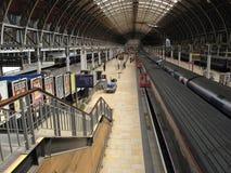 Interior do salão da estação de comboio Foto de Stock Royalty Free