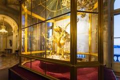 Interior do salão do pulso de disparo do pavão no museu de eremitério Imagem de Stock Royalty Free