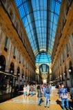 Interior do shopping de Vittorio Emanuele II da galeria Imagens de Stock