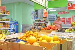 Interior do supermercado fotos de stock