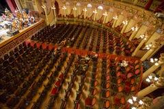 Interior do teatro das Amazonas em Manaus, Brasil imagens de stock royalty free
