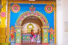 Interior do templo de Munneswaram Imagem de Stock