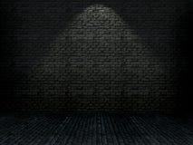 interior do tijolo do grunge 3D ilustração stock