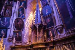 Interior do traje do escritório de Dumbledore e do ` s do professor Decoração Warner Brothers Studio para o filme de Harry Potter Fotos de Stock