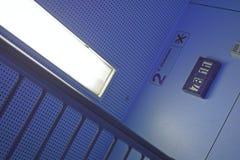 Interior do trem Fotografia de Stock