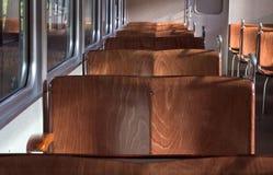 Interior do trem Imagens de Stock