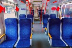 Interior do trem Fotos de Stock Royalty Free