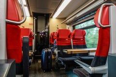 Interior do trem de alta velocidade imagens de stock royalty free