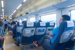Interior do trem rápido crh1 de CRH Imagem de Stock