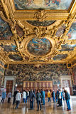Interior of Doge's Palace in Venice, Italy Stock Image