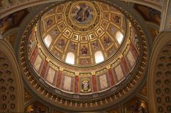 Interior Dome of Basillica Royalty Free Stock Photography