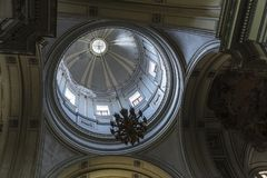 Dome of Palermo Cathedral in Palermo, Sicily, Italy. Interior of the dome of the cathedral of Palermo in the old town of Palermo in Sicily, Italy Royalty Free Stock Image