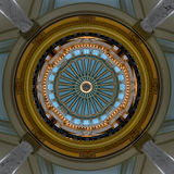 Interior dome of Mississippi Capitol Stock Image