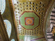 Interior of Dome on the Rock. Jerusalem, Israel. Royalty Free Stock Image