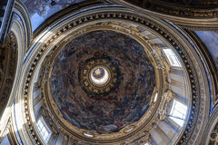 Interior dome Rome Stock Images