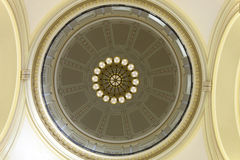 Interior dome from the rotunda floor of the Arkansas State Capitol building in Little Rock Stock Photos
