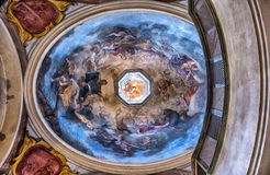 Interior dome of the St. George's Basilica in Prague Stock Images