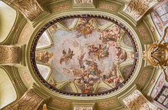 Interior dome of the St. Nicholas Church, Prague Stock Photography