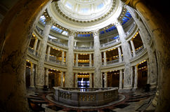 Interior Dome of State Capital Building. State capital building interior dome with lights and glass Royalty Free Stock Images