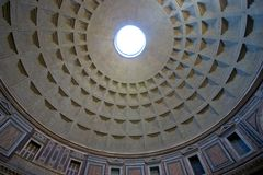 Interior of domed ceiling. A view looking upward to the top of a rotunda or domed ceiling Stock Photography