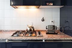 Interior, domestic kitchen Stock Photography