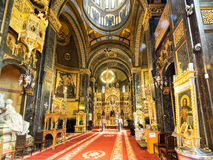 Interior of Domnita Balasa church in Bucharest. Interior of historic Domnita Balasa Church in Bucharest, Romania Royalty Free Stock Photos