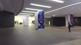 Interior of Dongdaemun Shopping Mall in Seoul, Korea.  stock video footage
