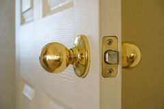 Interior Door and Knob Stock Image