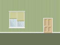 Interior with door and window Stock Photos