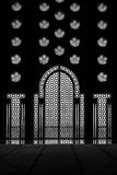 Interior door and window of the Hassan II mosque in Cassablanca Stock Image