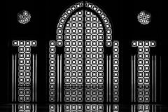 Interior door and window of the Hassan II mosque in Cassablanca Royalty Free Stock Image