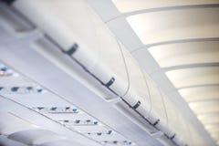 Interior dos aviões comerciais Imagem de Stock Royalty Free