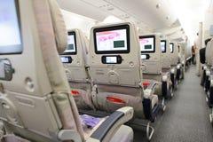 Interior dos aviões de Airbus A380 dos emirados Imagens de Stock Royalty Free