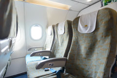 Interior dos aviões de Vietnam Airlines Fotos de Stock Royalty Free