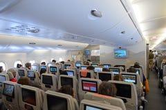 Interior dos emirados A380-800 Imagem de Stock