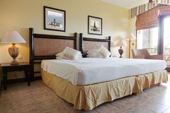 Interior of a double room Royalty Free Stock Images