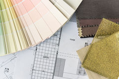 Interior drawing with  material color scheme Royalty Free Stock Photo