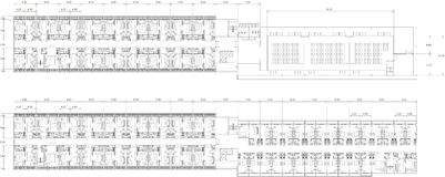 Interior drawing plan of of residential apartment Royalty Free Stock Photos