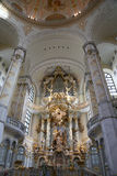 Interior of the Dresden Frauenkirche ( literally Church of Our Lady) is a Lutheran church in Dresden Stock Photography