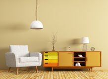 Interior with dresser and armchair 3d rendering Royalty Free Stock Photography
