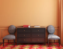 Interior with dresser. 3d rendering. Royalty Free Stock Photo