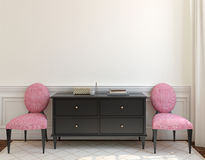 Interior with dresser. 3d rendering. Stock Photography