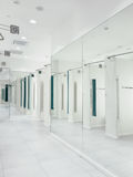 Interior of dressing room in the mall Royalty Free Stock Photos