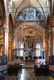 Interior of Duomo Cathedral in Verona city Royalty Free Stock Photography