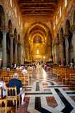 Interior Duomo di Monreale, Sicily Stock Images