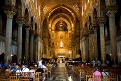 Interior of Duomo di Monreale, Sicily Stock Image